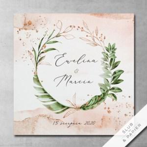 Tropikalne pudrowe - Egzotyczne zaproszenia ślubne