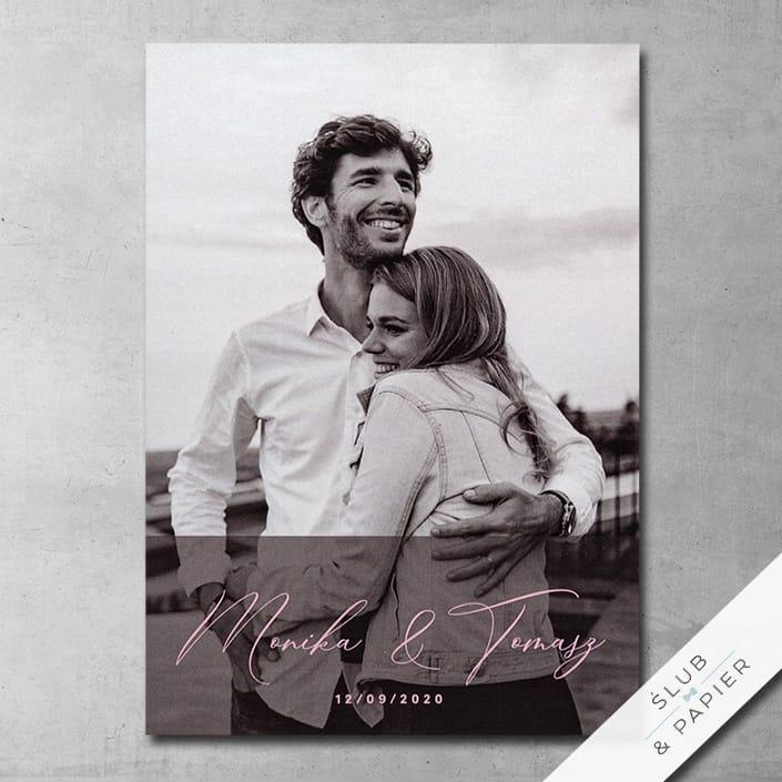 Ze zdjęciem w tle - Zaproszenia ślubne i na wesele