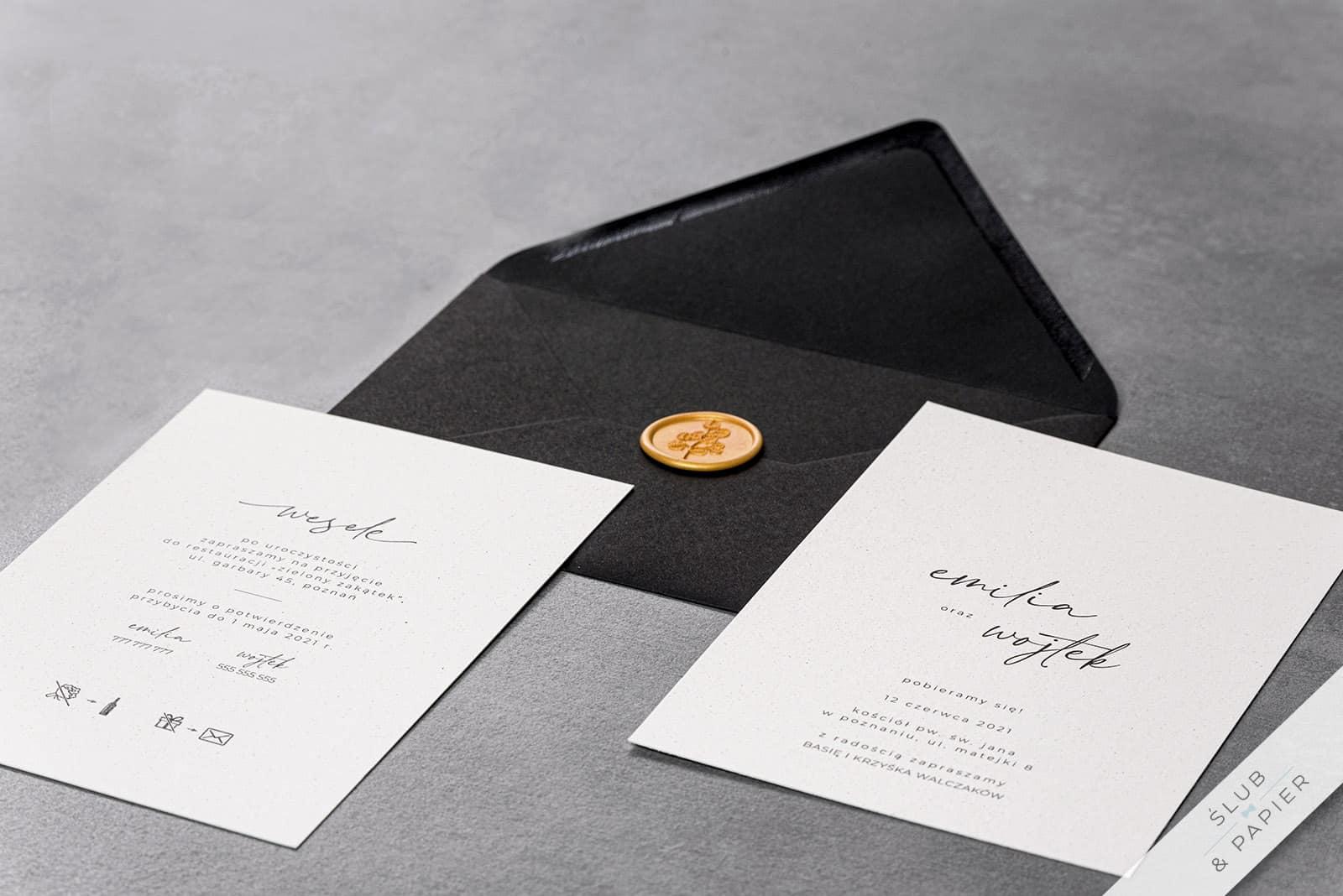 Zaproszenie ślubne Autograf - leżące