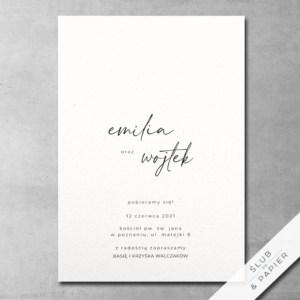 Zaproszenie ślubne Autograf
