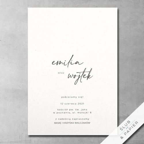 Zaproszenie 艣lubne Autograf