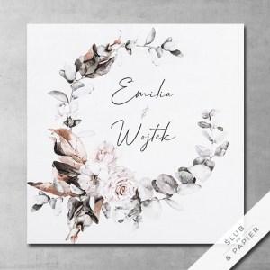 Boho zima - Zaproszenia ślubne boho