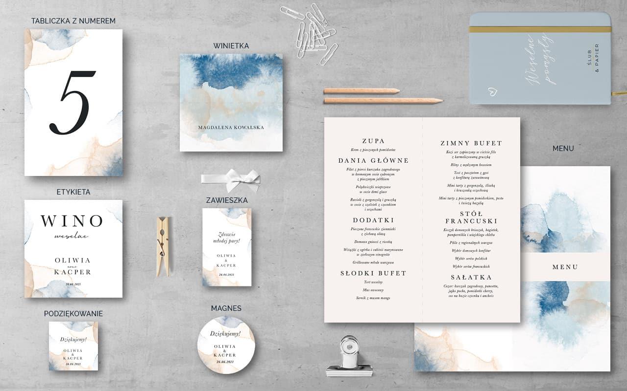 Dodatki weselne do zaproszenia Atramentowe
