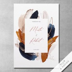 Zaproszenie ślubne Abstrakcyjne