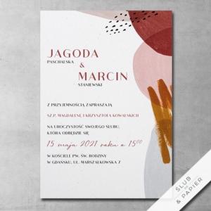 Zaproszenie ślubne Awangardowe