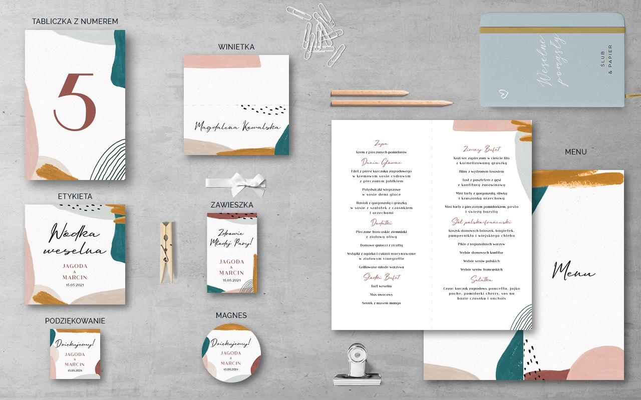 Dodatki weselne do zaproszenia Awangardowe
