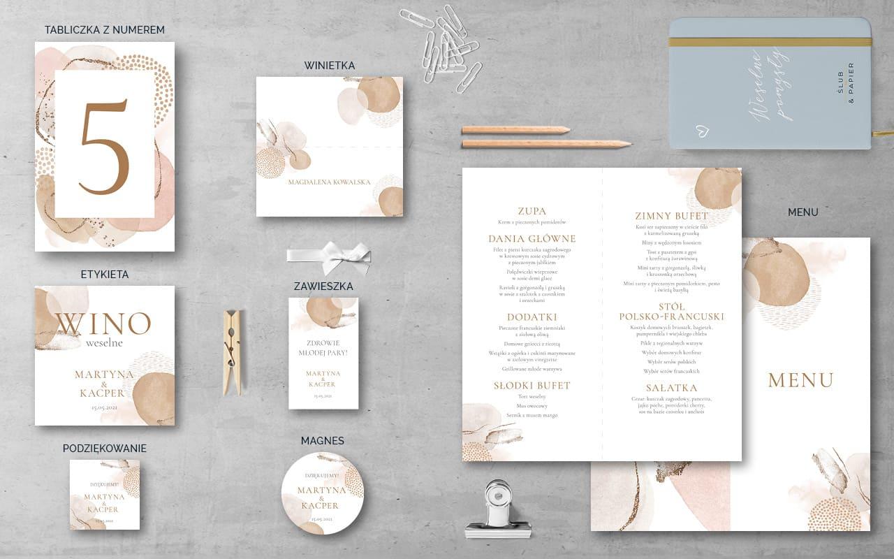 Dodatki weselne do zaproszenia Pastelowe