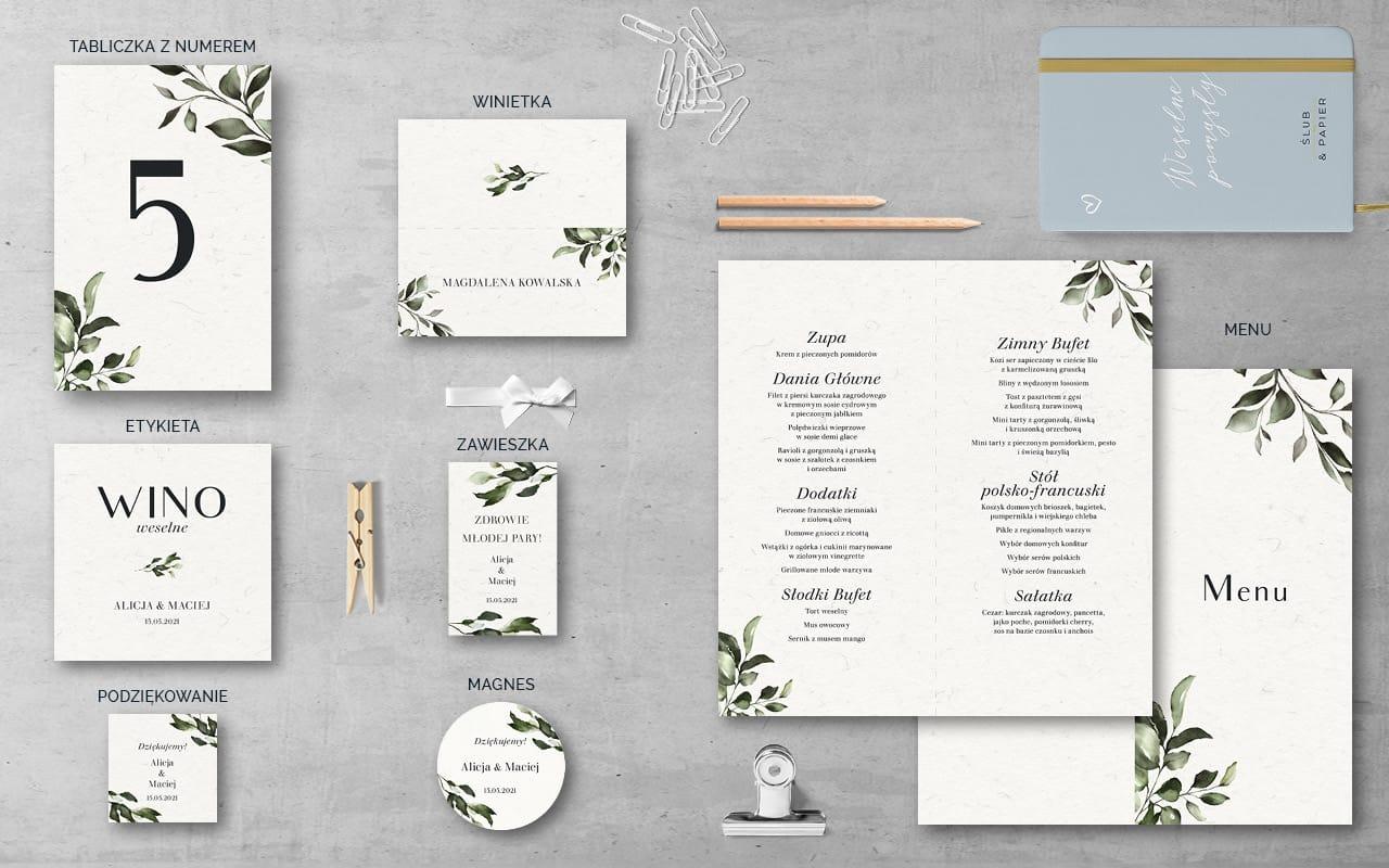 Dodatki weselne do zaproszenia Subtelne