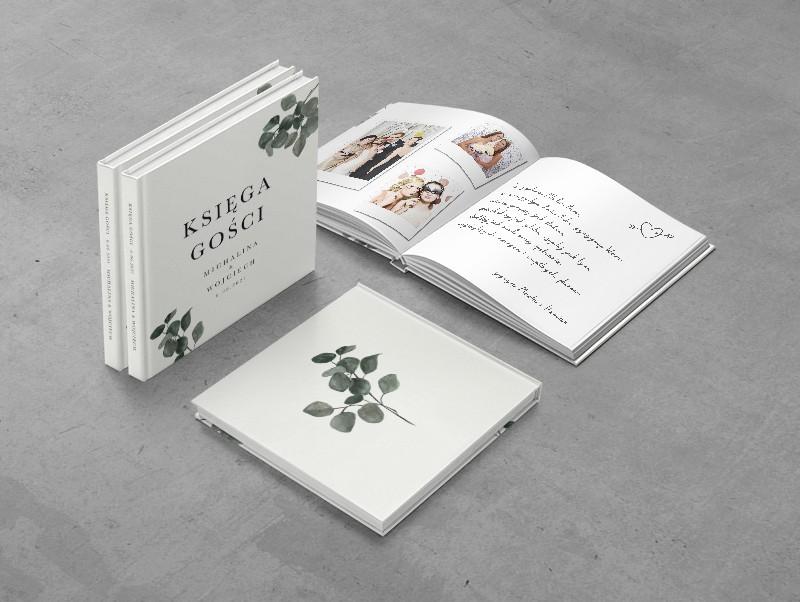 Księga gości weselnych do zaproszenia Eukaliptus khaki