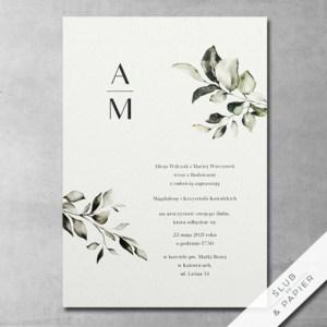 Zaproszenie ślubne Subtelne