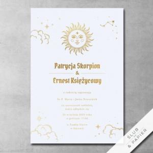 Zaproszenia ślubne Astrologiczne