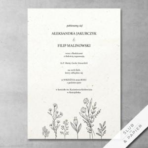 Zaproszenie ślubne Delikatne kwiaty