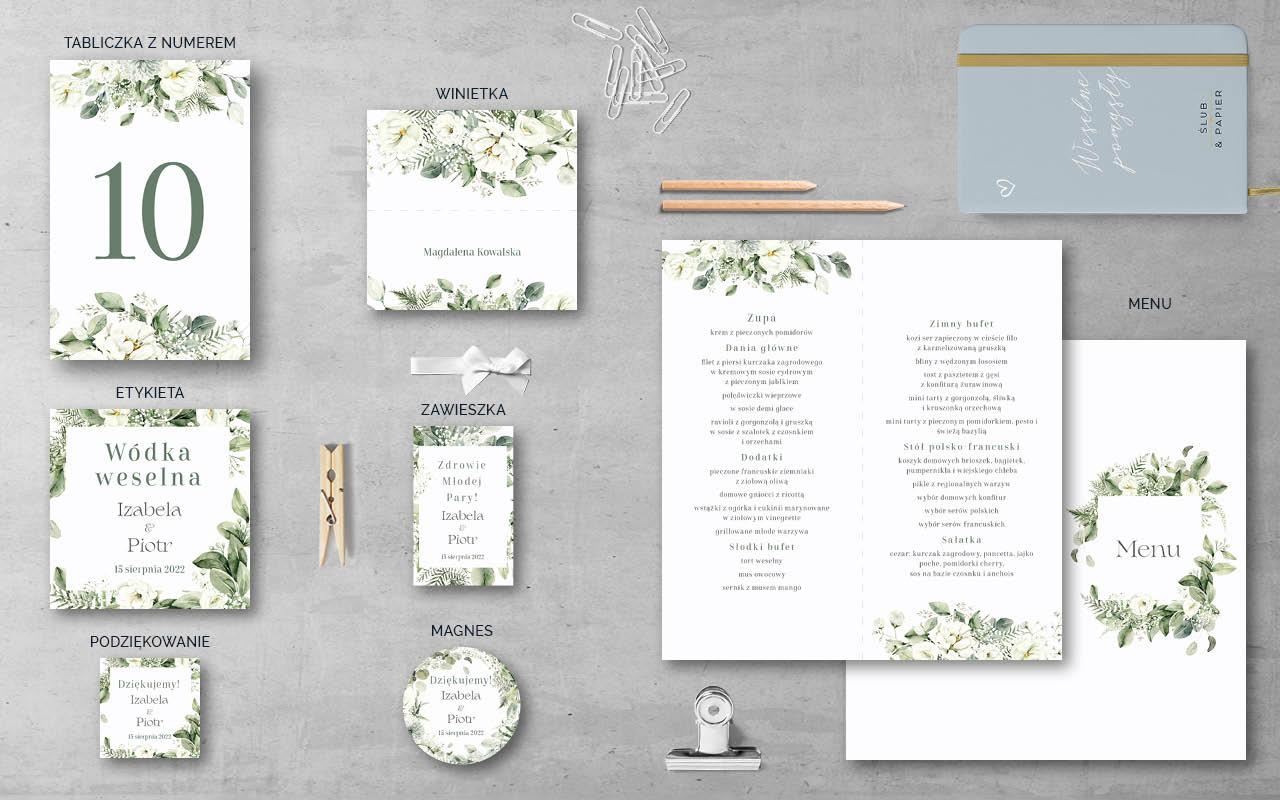 białe kwiaty - Dodatki weselne