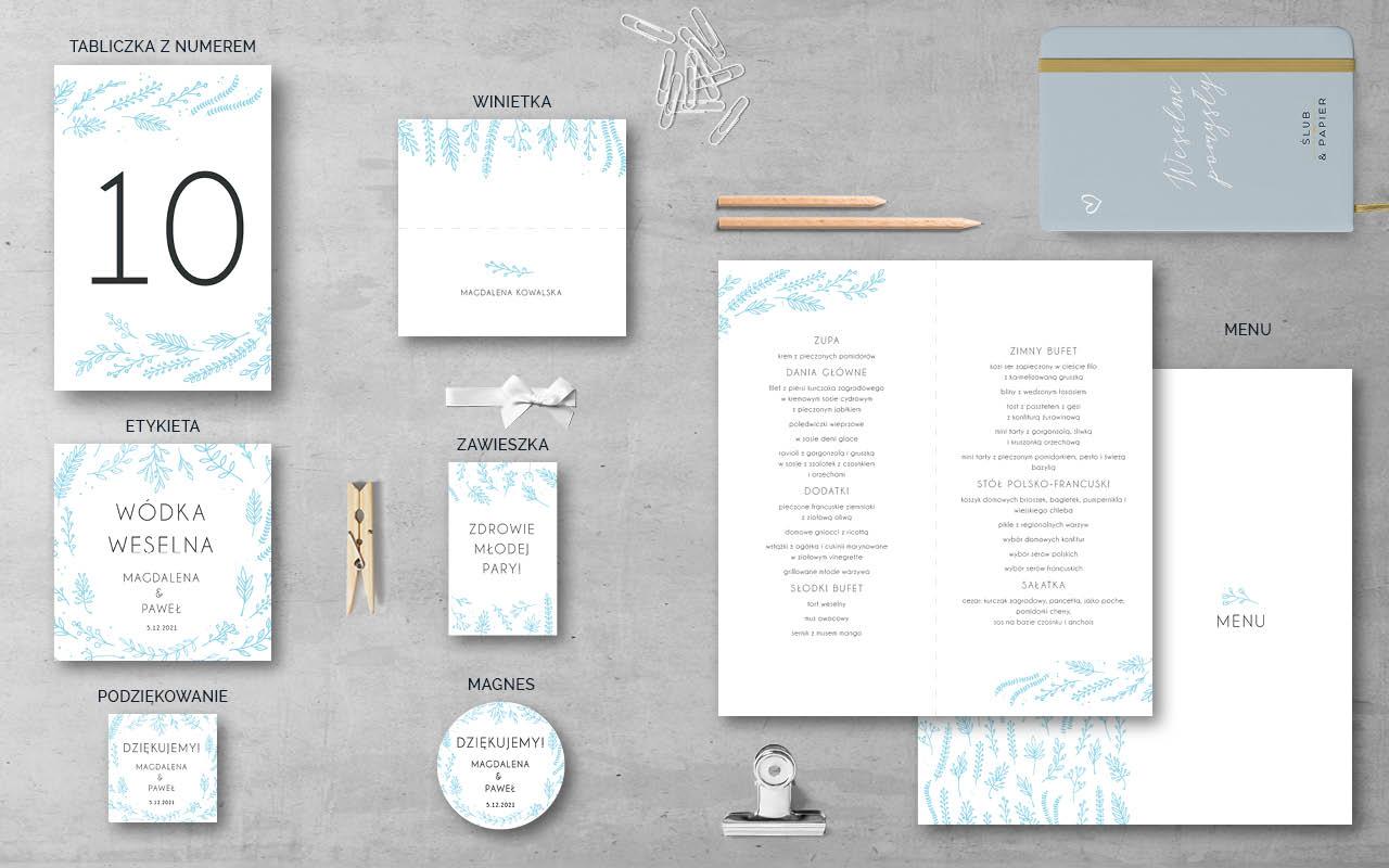 zimowe Gałązki - Dodatki weselne