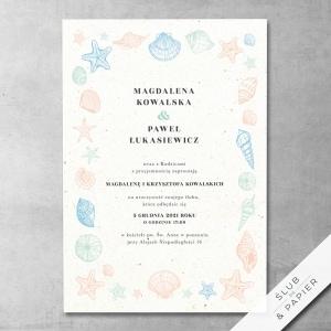 Zaproszenia ślubne muszelki - zdjęcie poglądowe