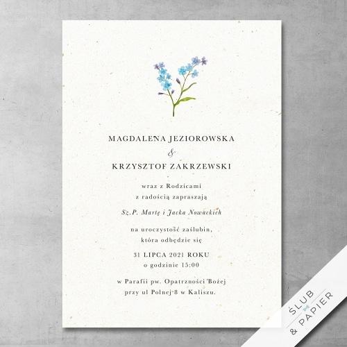 Zaproszenie 艣lubne Niezapominajki